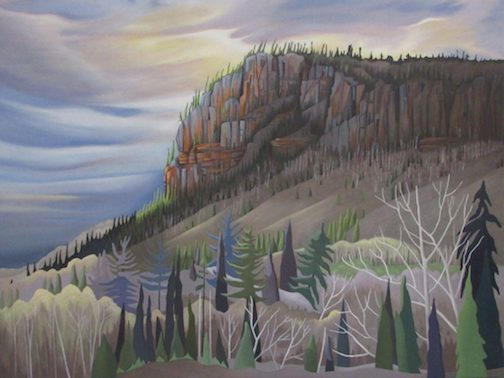 """One of the paintings in the Thunder Bay Art Gallery's new exhibit,  """"The North Now."""""""