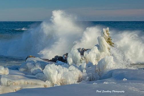 Ice sculptures by Paul Sundberg.