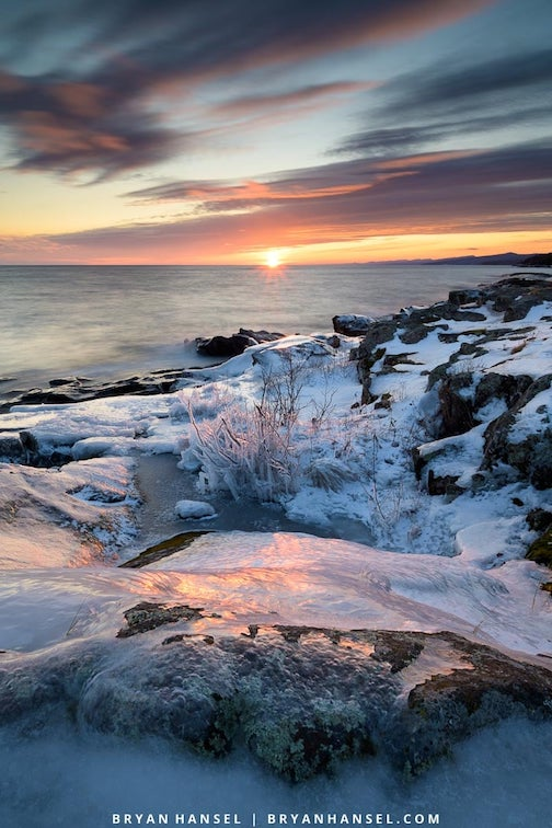 Sunset over Lake Superior by Bryan Hansel.