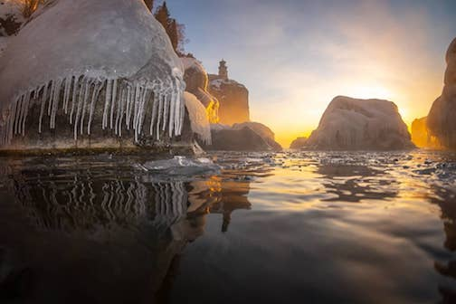 -15 F at Split Rock Lighthouse this morning by Christian Dalbec.