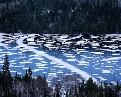Light and dark patches and fractures--Caribou Lake by Dan Dorland.