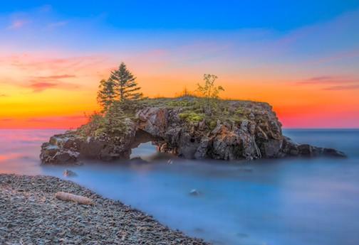 Hollow Rock Sunrise by Garrick Meyer.