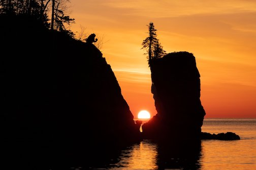 Spring sunrise at the Sea Stacks by Jim Schnortz.