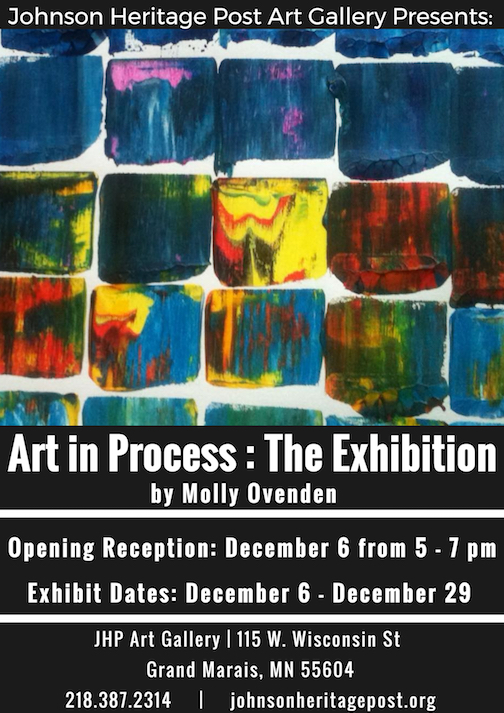 """Art in Process: The Exhibition"" opens at the Johnson Heritage Post on Friday."