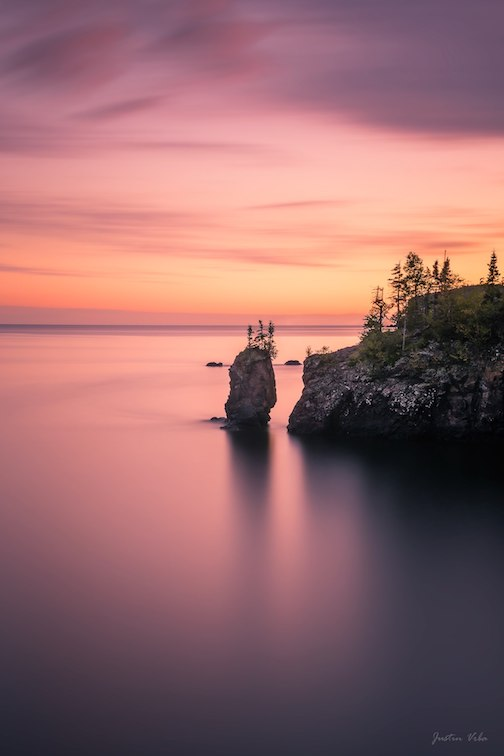 Sea Stack at sunset by Justin Vrba.