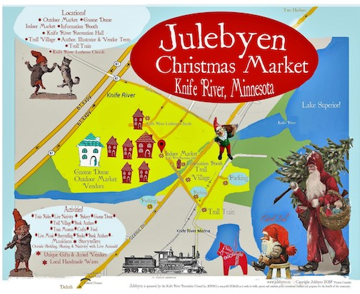 The Julebyen, or Christmas Village, will be held at Knife River on Saturday and Sunday.