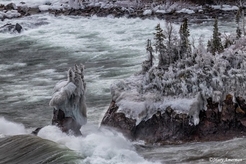 mary amerman my tribute iconic sea stack of Tettegouche State Park which was tumbled by yesterday's storm A most humbling testament to this Great Lake's power.jpg