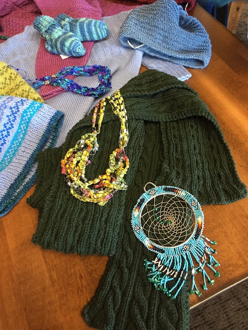 The Northwoods Fiber Guild's Open House and Holiday Sale is from 9 a.m. to 2 p.m. at the Grand Marais Art Colony on Saturday.