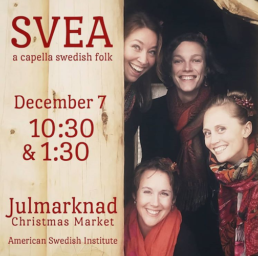 SVEA will be performing at the Swedish American Institute on Saturday.