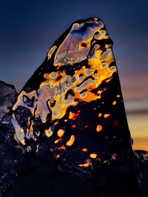 Ice agate sunrise by Tad Paavola.
