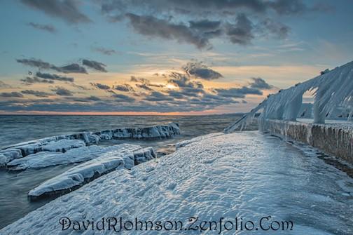 Wind-swept ice by Don Davison.