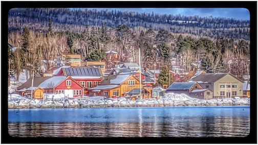 North House Folk School and the Grand Marais harbor by Don Davison