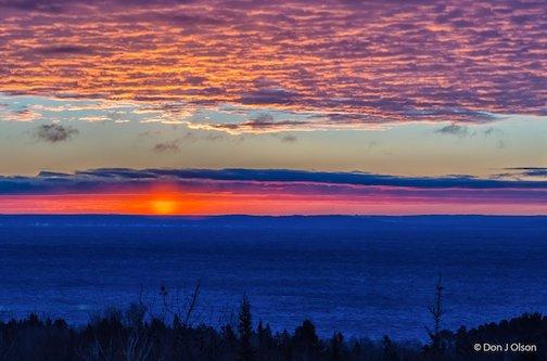 Superior sunrise by Donald Jay Olson.