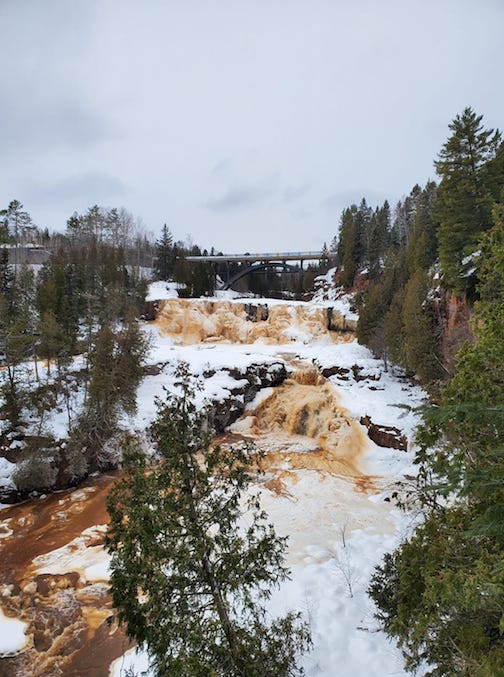 New Year's Day at Gooseberry Falls State Park by Jessica Lemmerman.