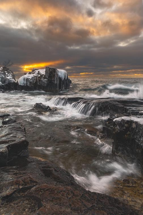 A ray of light from Artist's Point in Grand Marais by John Keefover.