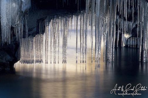 The light of winter at Hollow Rock by Karen Hunnicutt Meyer
