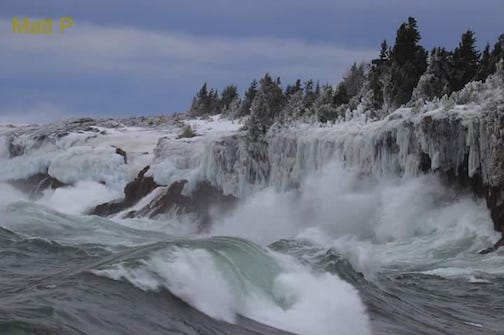 The storm rocks on Lake Superior by Matthew Pastick.