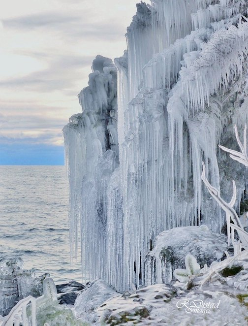Lake Superior has been very busy decorating her shoreline by Roxanne Distad.