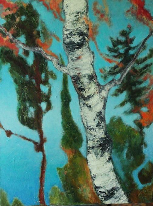 """Sea Stack Birch' by Jane Johnson."