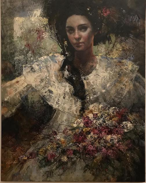 """Tonja Sell won the People's Choice Award at the Duluth Art Institute's Member Show opening with this painting, entitled """"Windflowers."""""""