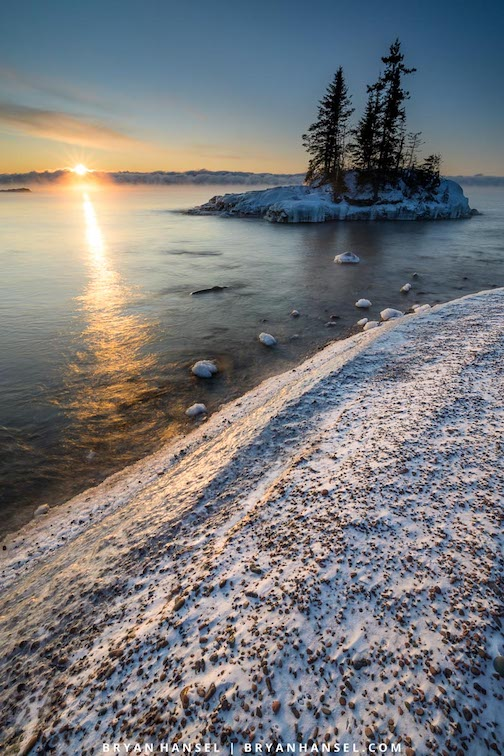 Lake Superior and the sun by Bryan Hansel.