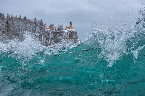 Aqua--shorebreak close and personal by Christian Dalbec.