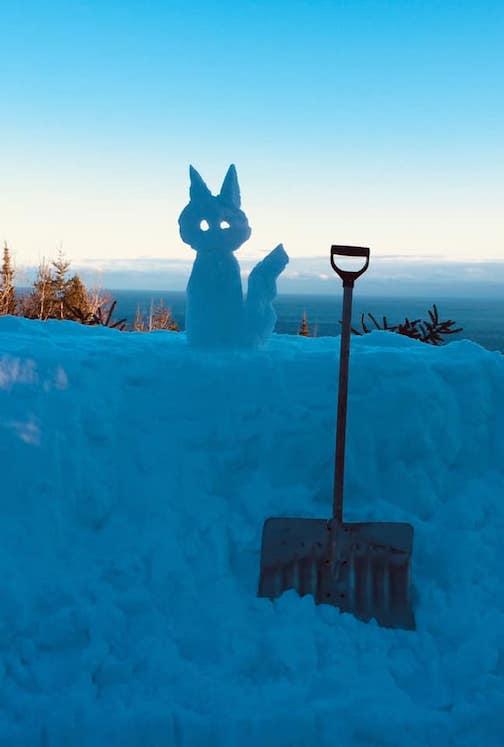 It's snow sculpture season by Denny Fitzpatrick.