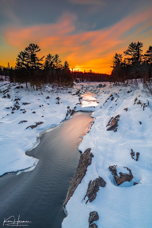 Sunsets at the St. Louis River, Jay Cooke State Park by Ken Harmon.