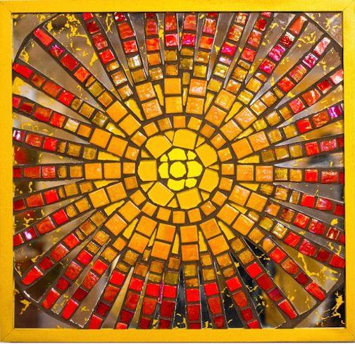 """""""Sunburst,"""" mosaic, by Bonnie Gay Hedstrom."""