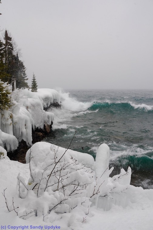 Stormy, snowy, big waves ... got it all today by Sandra Updike..