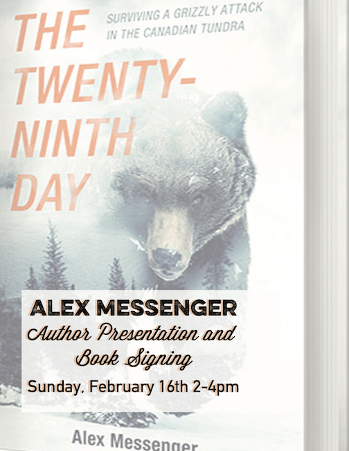 """Author Alex Messenger will discuss his book, """"The Twenty-Ninth Day"""" at Voyageur Brewing at 2 p.m. Sunday."""