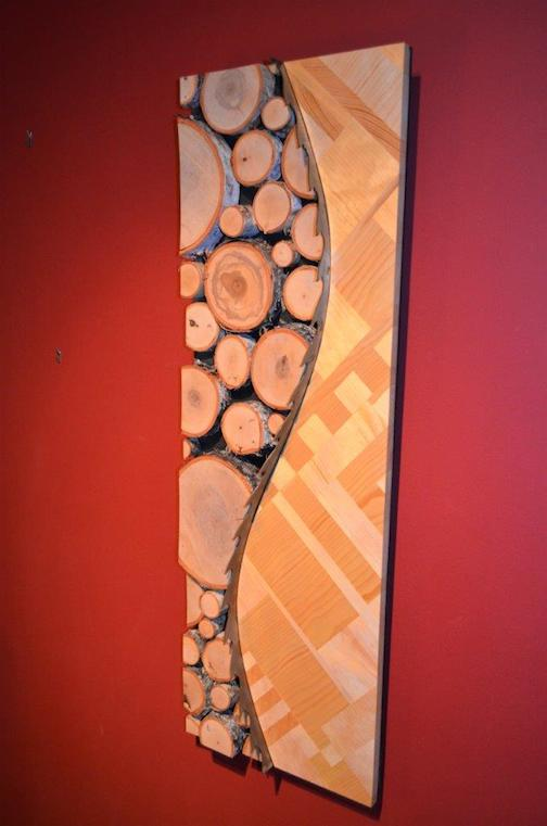 """""""Wilderness"""" by Dave Seaton and Mark Lande is one of the pieces that will be in the Kintsugi show, which opens Feb. 21. The piece is crafted from trees, boards and a saw blade."""