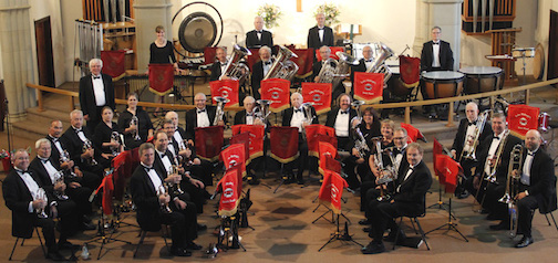 The Lake Wobegon® Brass Band  will be in concert at the Bethlehem Lutheran Church at 7 p.m. on Saturday.