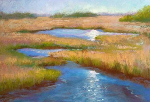 Pastel artist, Michele Wegler, will open an exhibit of her work at the Duluth Pottery on Saturday.