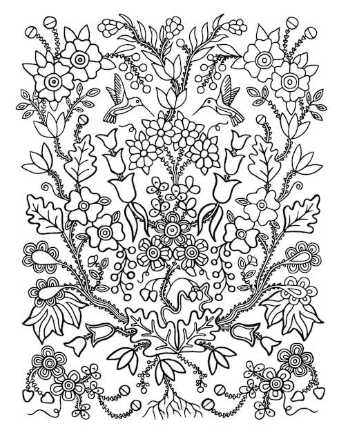 """Christi Belcourt's coloring page, from her painting """"Joy"""""""