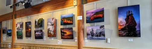 A great selection of Christian Dalbec's photographs are on exhibit at Tettegouche State Park through March.