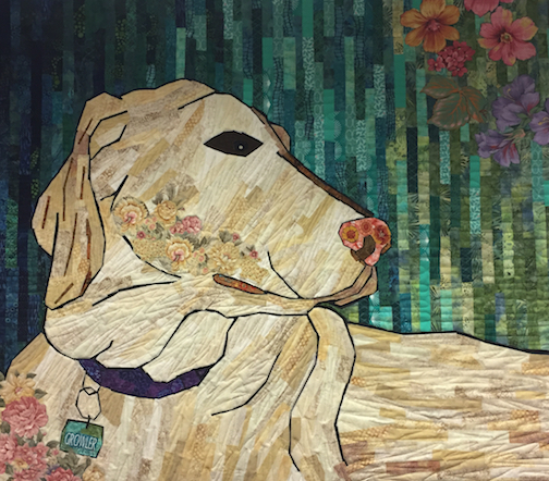 """Best Friend."" Quilt by Carol Morgan."