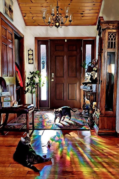 Front Hallway at 5 below by Don Davison.