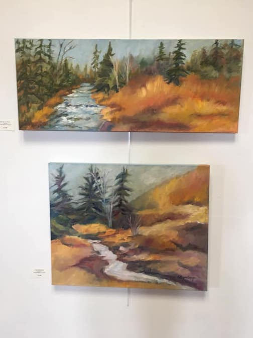 Landscape painter Rita Corrigan is exhibiting her work at the Johnson Heritage Post.