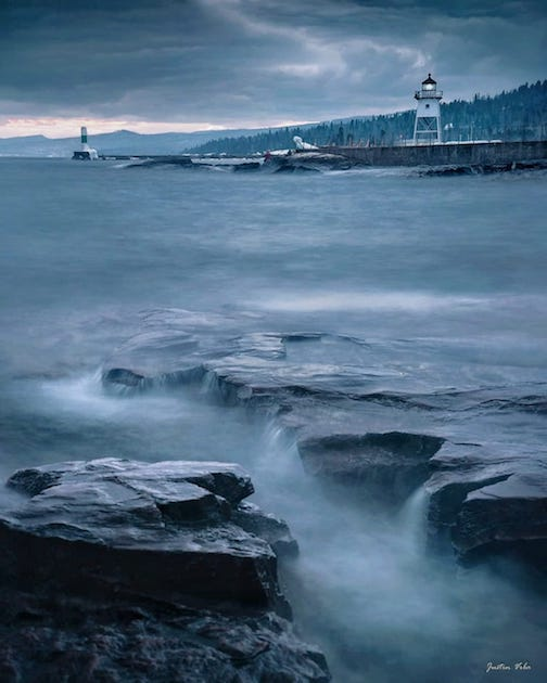 Moody Sunset in Grand Marais by Justin Vrba.