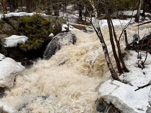 Spring break-up on Tischer Creek in Duluth by Karen Sunderman.