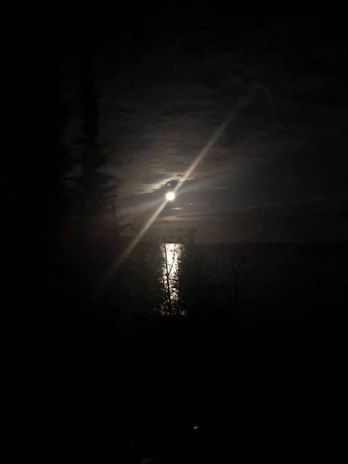 The full moon over the lake last night by Lin Salisbury.