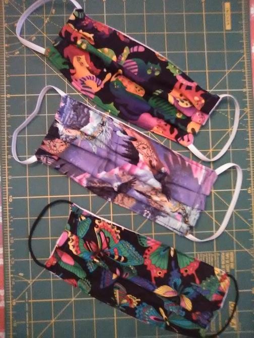 noerthwoods fiber guild masks linda blaine