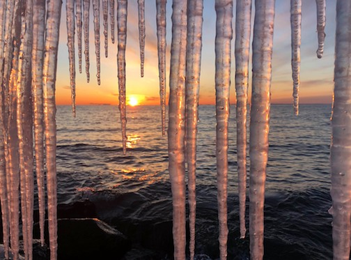 Sunrise Icicles by Ron Benson.