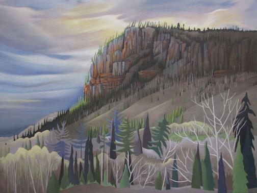 """Red Rock Cuesta,"" by Taimi Poldmaa was also chosen for the People's Choice Award in the North Now exhibit at the Thunder Bay Art Gallery."