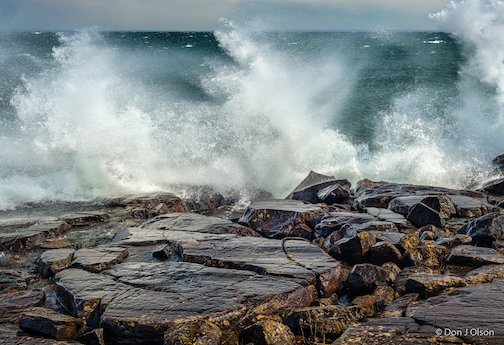 Wild waves at Stoney Point on April 22 by Donald Jay Olson.