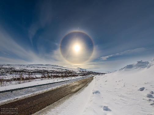 Easter solar halo by Goran Strand.