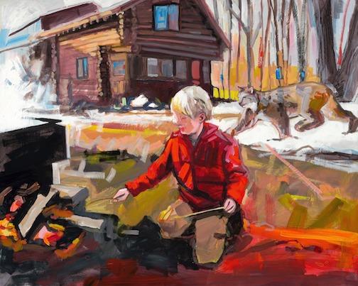 Tending the sap boil by Adam Swanson.