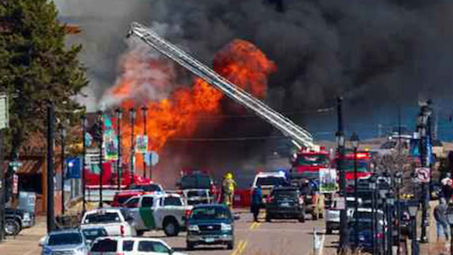 Three local businesses, Picnic and Pine, The Crooked Spoon and White Pine North were destroyed in a fire in downtown Grand Marais on Monday, April 13.