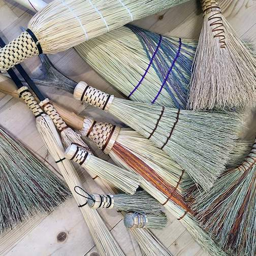 Marybeth Garmoe will talk about and demonstrate making brooms.